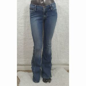 Allen B Embroidered Flared Jeans Sz 27